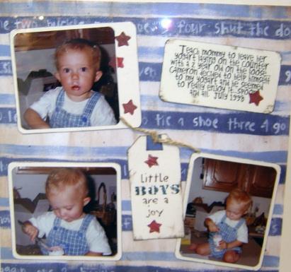 Baby boy scrapbooking