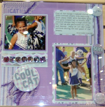 Cheerleading scrapbook idea