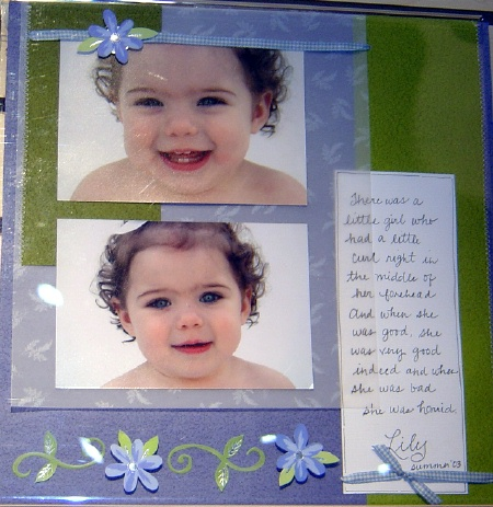 baby scrapbook idea