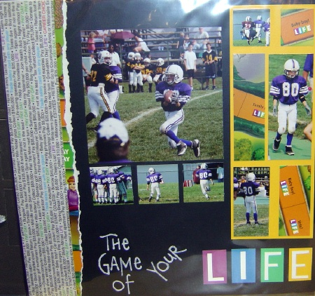 football idea page scrapbook