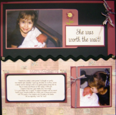 scrapbook for baby girl