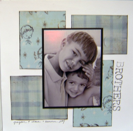 scrapbooking idea (brother)