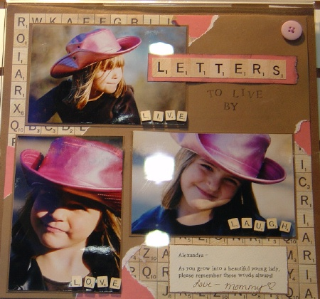 letter scrapbooking idea