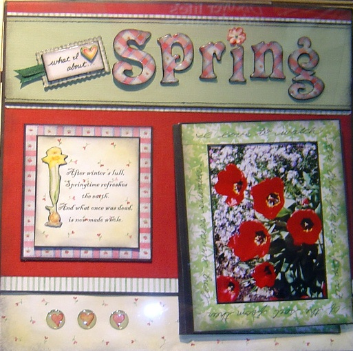 Spring Time Scrapbooking Idea