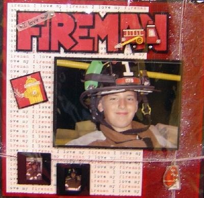 Fireman Scrapbooking Idea