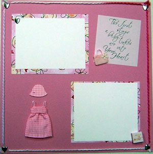 Girl Page Scrapbook Page 2