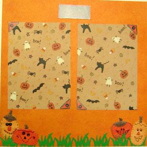 Halloween Scrapbook Page 1