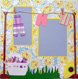 Laundry Scrapbook Page 2