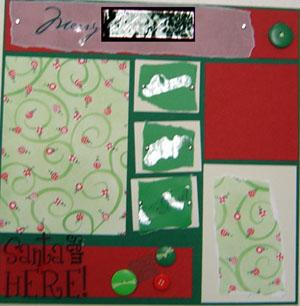 Merry Xmas Scrapbook Page 1