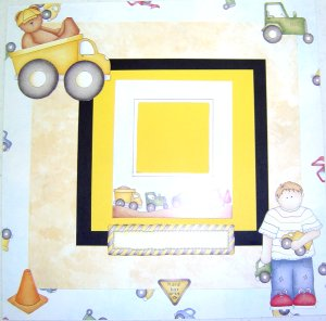 Baby Boy Scrapbook Pages