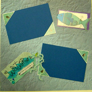 Water Scrapbook Page 1