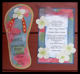 Scrapbook Idea Invitations