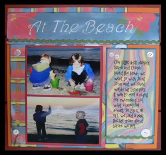 Scrapbook Beach Idea