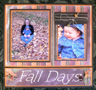 Scrapbook Idea Fall Days