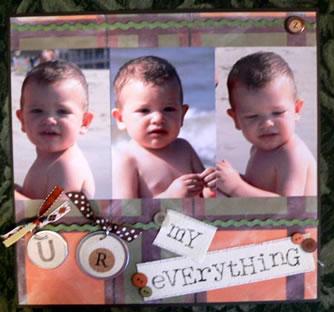 Scrapbook Idea U R My Everything