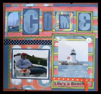 Scrapbook Idea Sail Away