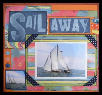 Sail Away Scrapbook Idea