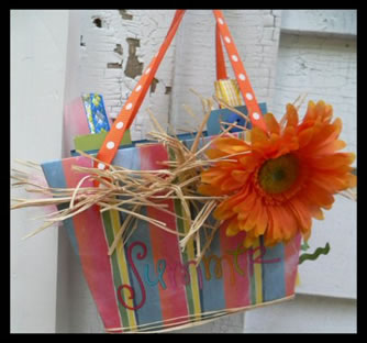 Summer Bag Album Scrapbook Idea