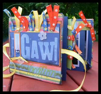 Gawi Mini Book Scrapbook Idea