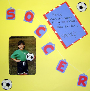 Sports Scrapbook Page Layout
