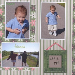 Springtime scrapbooking layout