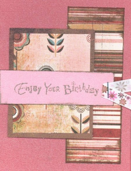 Scrapbooking Page Ideas Enjoy Your Birthday Card