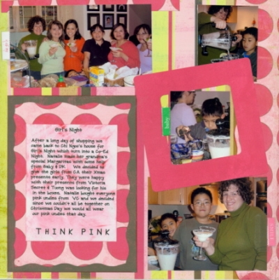 Scrapbooking Page Idea Think Pink