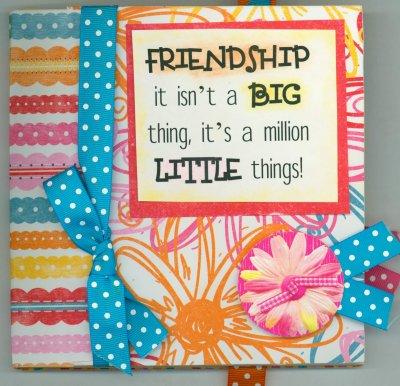 Bo Bunny Yummy Friendship BoardBook Class