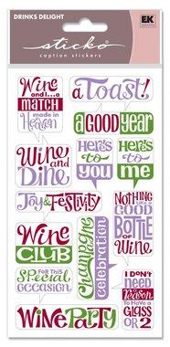 Sticko WINE Scrapbook Stickers